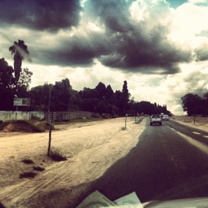 Abandoned road back from Harare Airport.