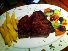 T-bone steak.