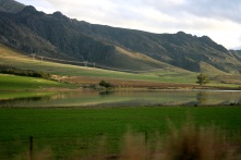 The majestic winelands near Worcester.