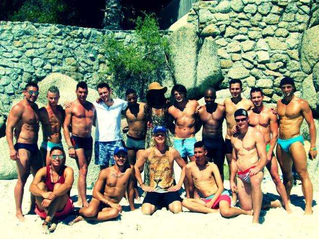 TOP 12: The finalists had fun and were also trained and mentored by Mr Gay World 2013, Christopher Olwage. PIC: Facebook